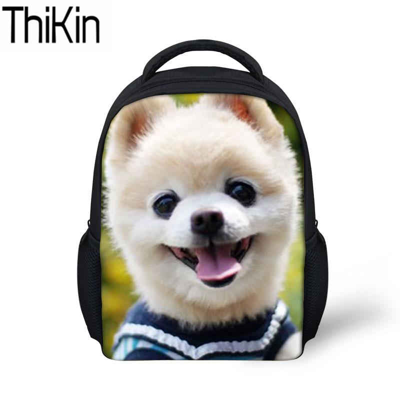 Thikin Kids Mini Kindergarten Backpacks For Girls Cute Pomeranian