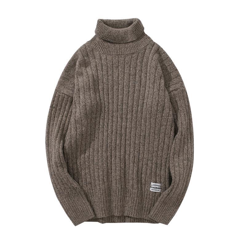 a basso prezzo ab60f f1b8d Maglione a maniche lunghe collo alto maglione uomo tinta unita maglione  collo alto maglione invernale uomo