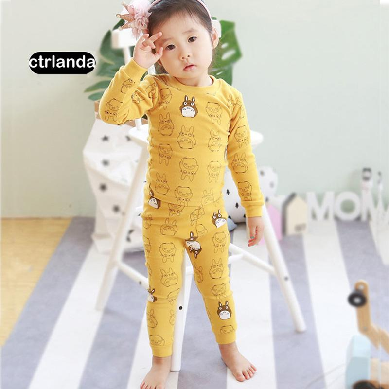 Children Girl Cartoon Pyjama Sets Kids Cotton Home Suit Sets Children  Clothes Warm Sleepwear Baby Girls Pajama T Shirt +Pants Set Winter Pajamas  For Girls ... e454f545a