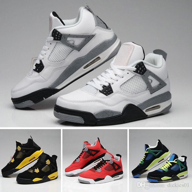 37f041295e6c37 Basketball Shoes 4 IV Mens Womens Blue Cement Kaws 4 Chaussures 4s ...