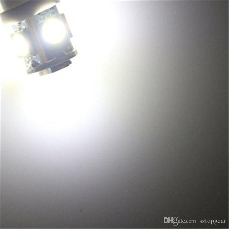 T10 194 168 5 SMD 5050 LED Car Indicator Light Interior Bulbs Instrument Light Wedge Door Lamp 24V Warm / White
