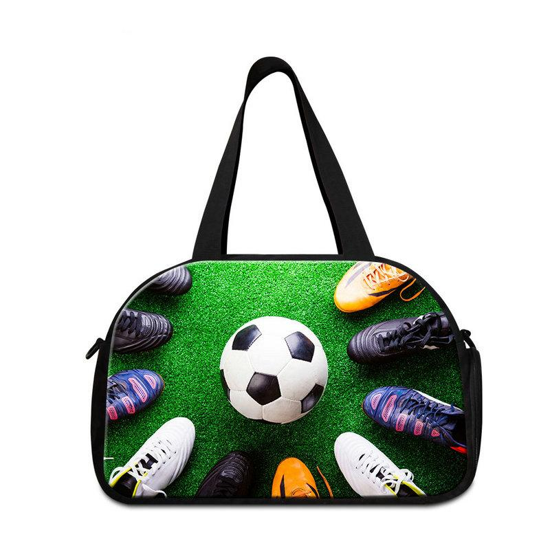 f817effd6 Stylish Gym Bags For Boys Football Pattern On Personalized Travel Bag Cool  Weekend Tourist Bags For Men Drop Shopping Garment Bag For Girls Duffle Bags  ...