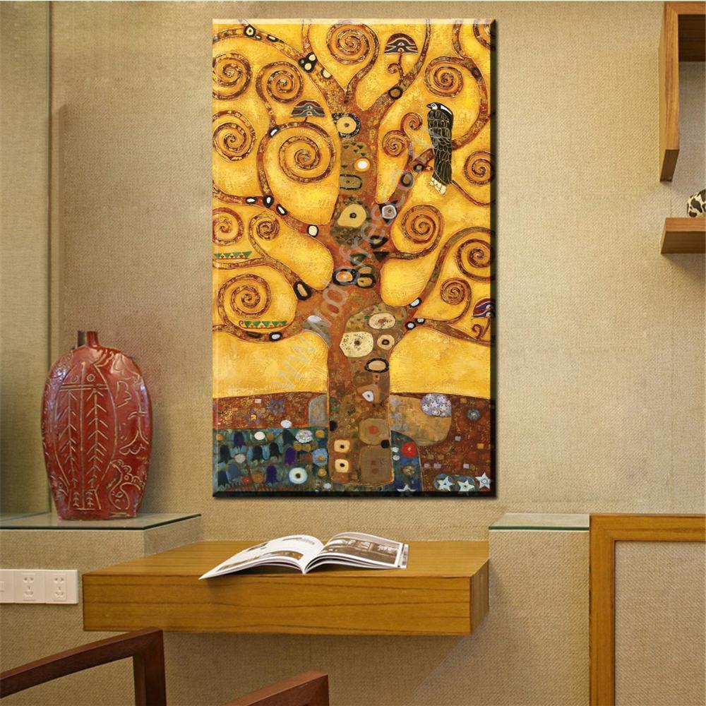2018 Zz1597 Wall Art Decoration Painting Gustav Klimt Big Tree Of ...