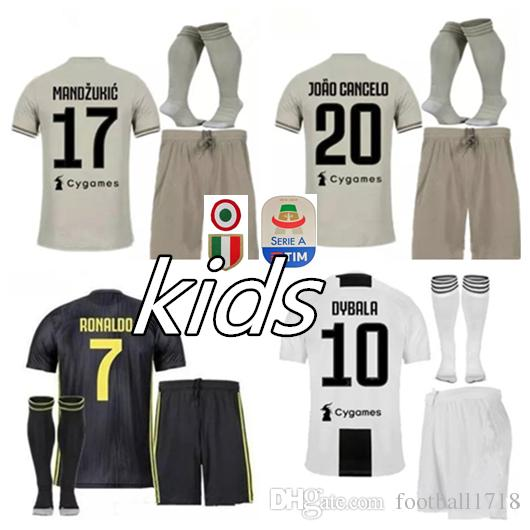 2019 JUVENTUS KIDS KITS RONALDO Soccer Jerseys HOME Dybala Kit 2018 2019  D.COSTA HIGUAIN MATUIDI MANDZUKIC KIDS JERSEY CHILD AWAY Football Shirts  From ... cf603ed13