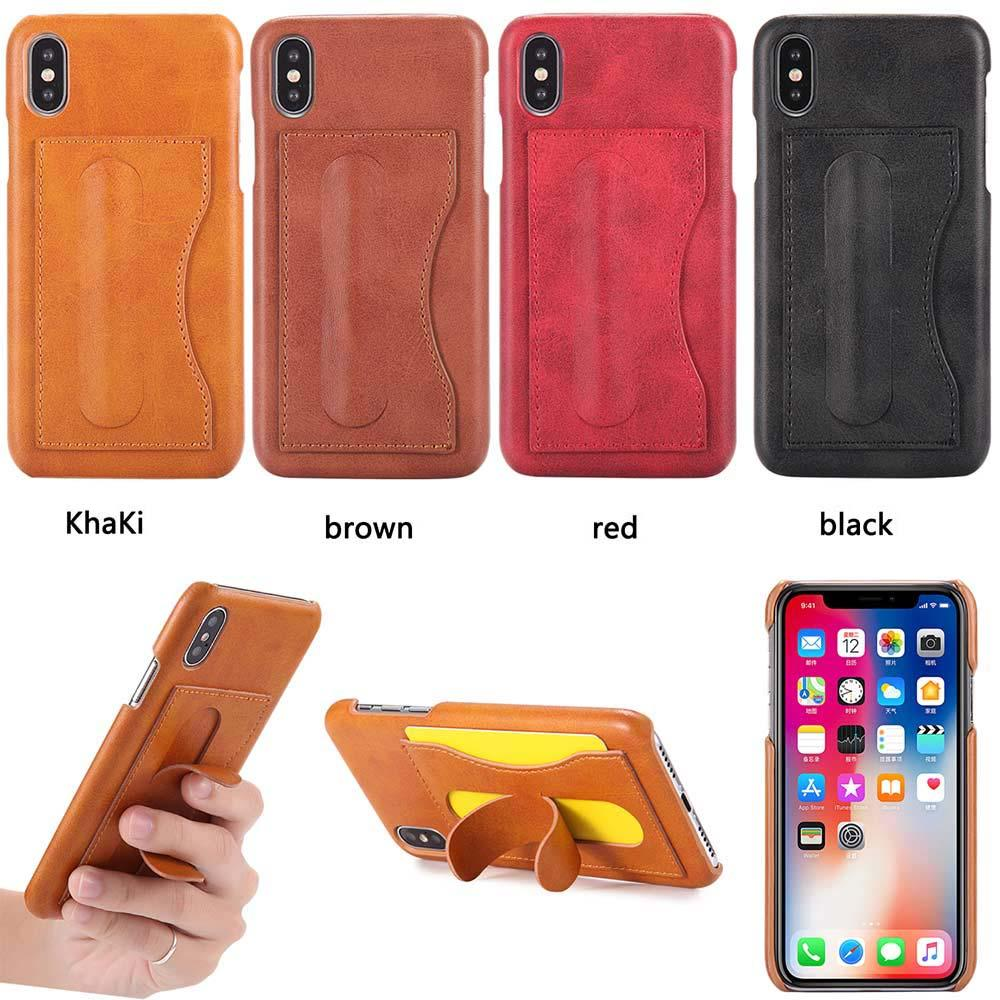 Full Body Leather Wallet Flip Phone Case Stand For Iphone X 8 7 6s 6