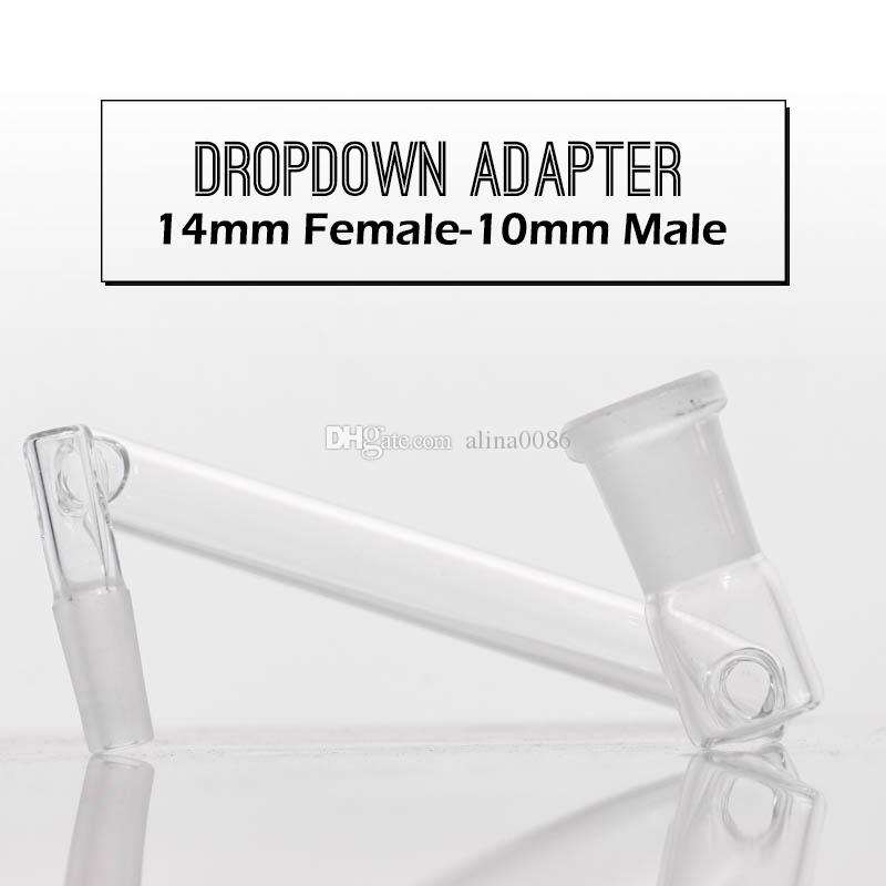 Hurtowy adapter hurtowy do spadek stawów męskich lub kobiecych do szklanej rury wodnej