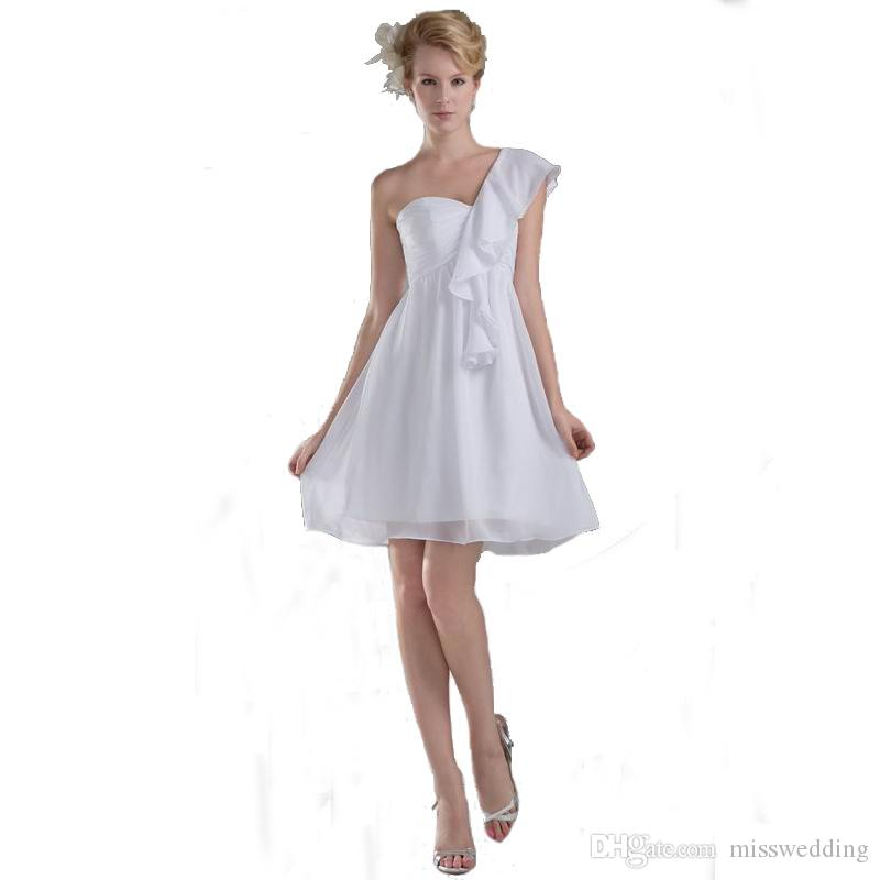 One Shoulder Maternity Wedding Dress