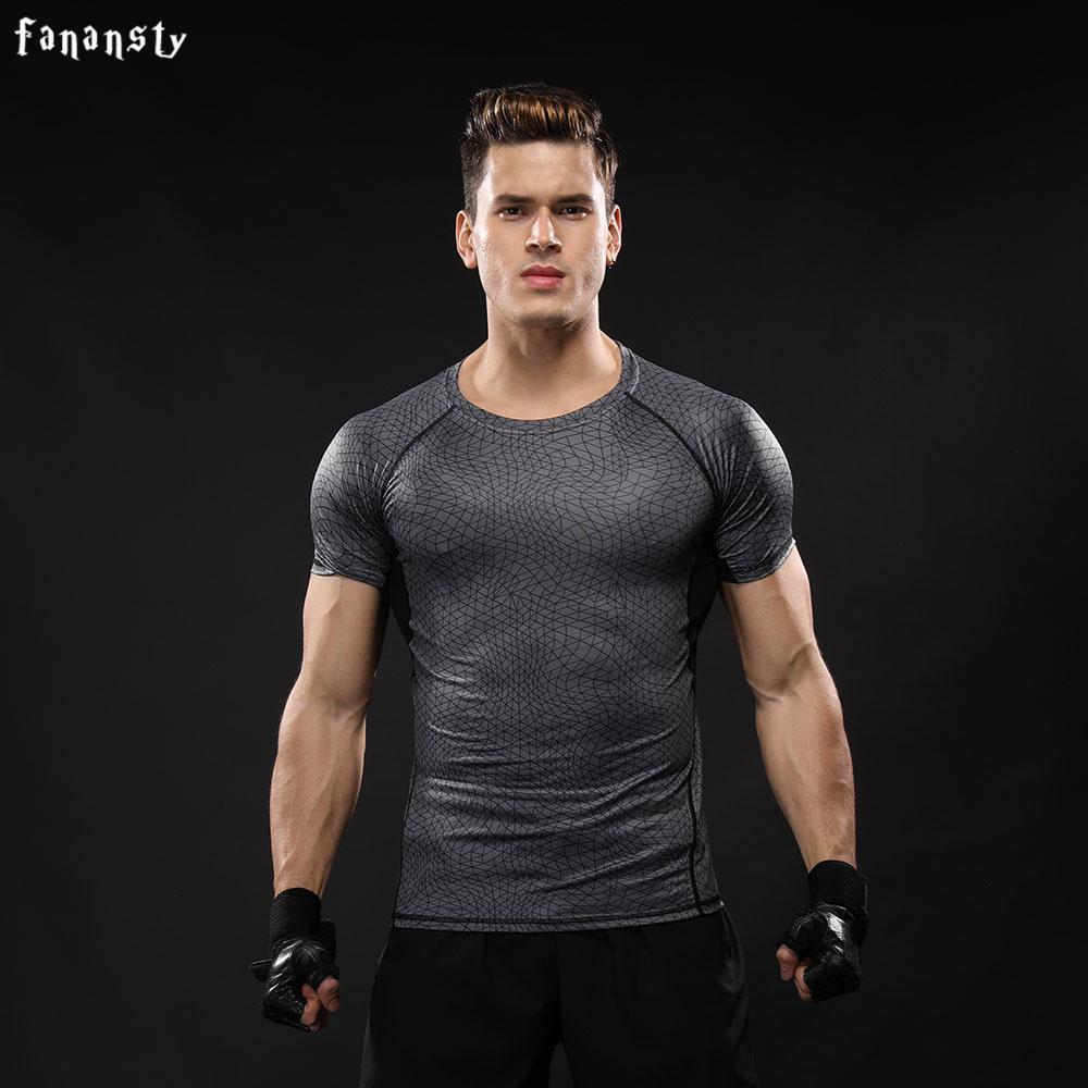 Acheter Hommes Sport Fitness Musculation Gym T Shirt Hommes Lycra  Compression Chemises En Cours D exécution Basket Ball Crossfit Sous Les  Tops De  39.25 Du ... 1093adf8fc2