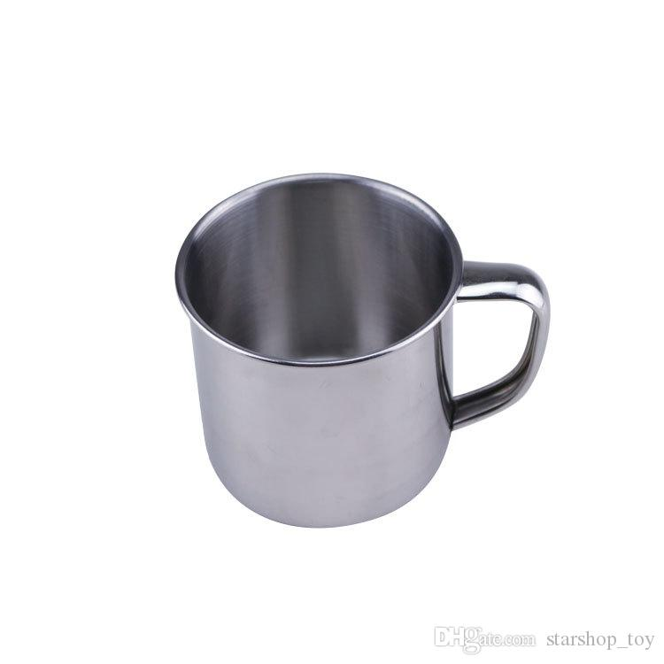 9oz250ml Stainless Steel Coffee Tea Mug Cup Camping Travel 7cm Beer Milk Espresso Insulated Shatterproof Children Baby Cup TY7-262