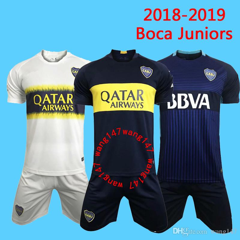 new style f21d1 f6fa0 Adult Kits 2018 2019 Boca Juniors Jersey Home Away 18 19 Boca Juniors  soccer jerseys OSVALDO CARLITOS PEREZ P GAGO football shirts Maillot
