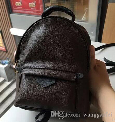 03eaba27c Compre Nova Marca De Luxo Bolsas De Mulheres Canvas Pu Leather School Bags  Moda Desenhadores Famosos Mochila Mochila De Viagem Feminina Mochilas Saco  De ...