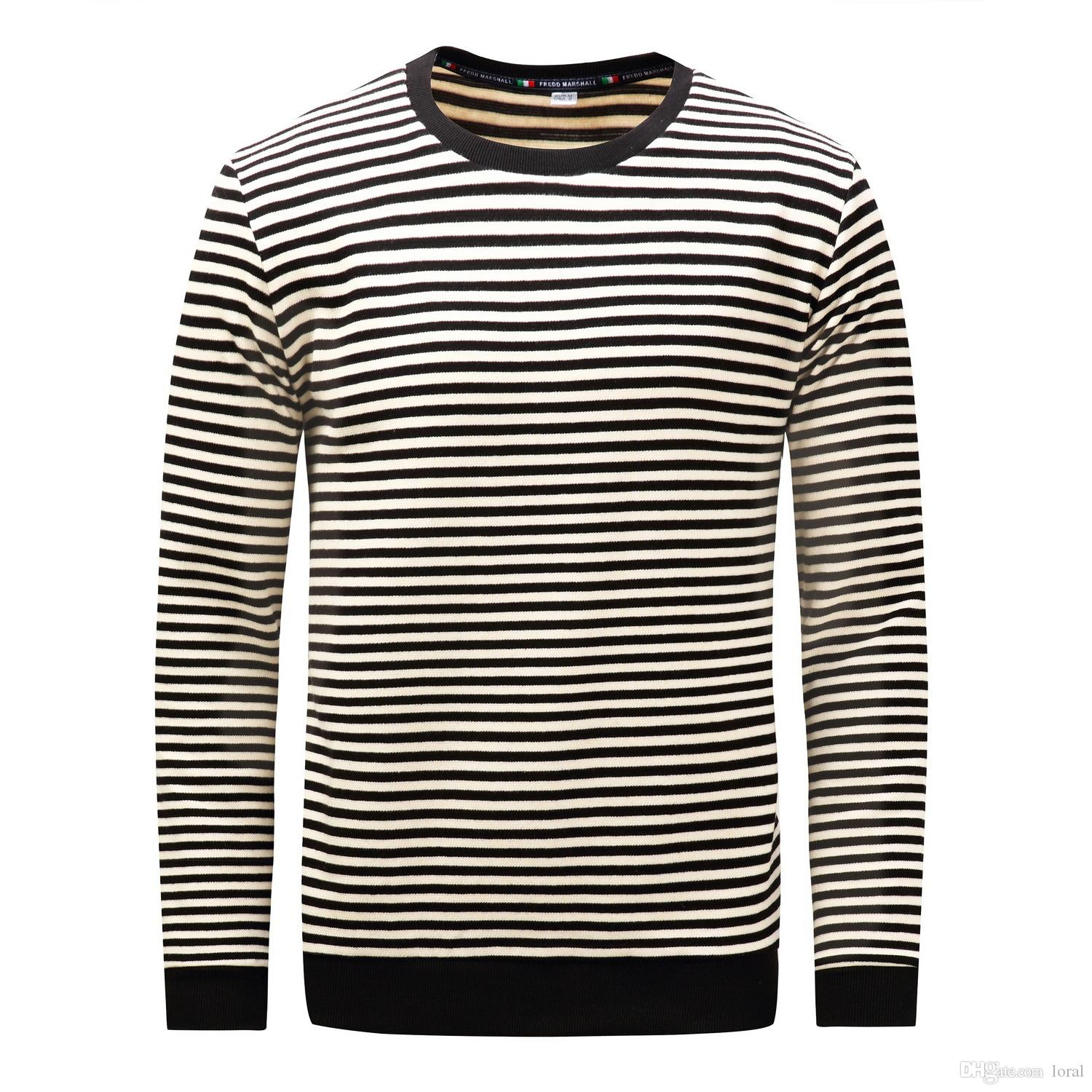New Mens Striped Casual Long Sleeve Tshirts Summer Male Crew Neck Pullover  Simple Design EU Size Tops Clever T Shirt 10 T Shirt From Loral c50a37421