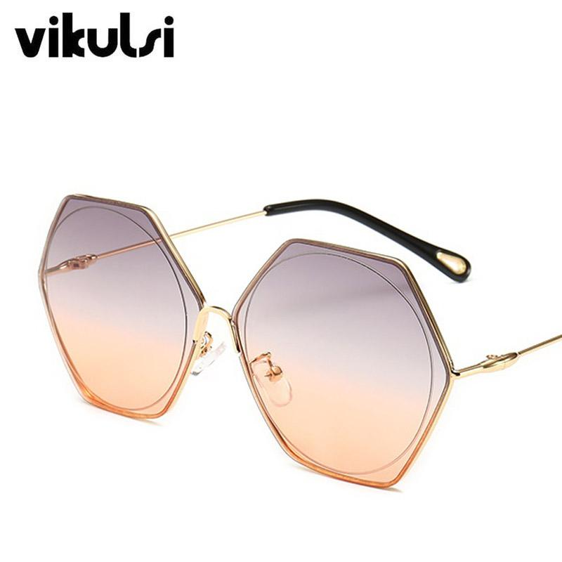 104d6b7791611 Unisex Rimless Octagon Sunglasses Oculos Vintage Women Men Brand Designer  Luxury Retro 2019 Sun Glasses Ladies Oversized Shades Heart Sunglasses  Circle ...