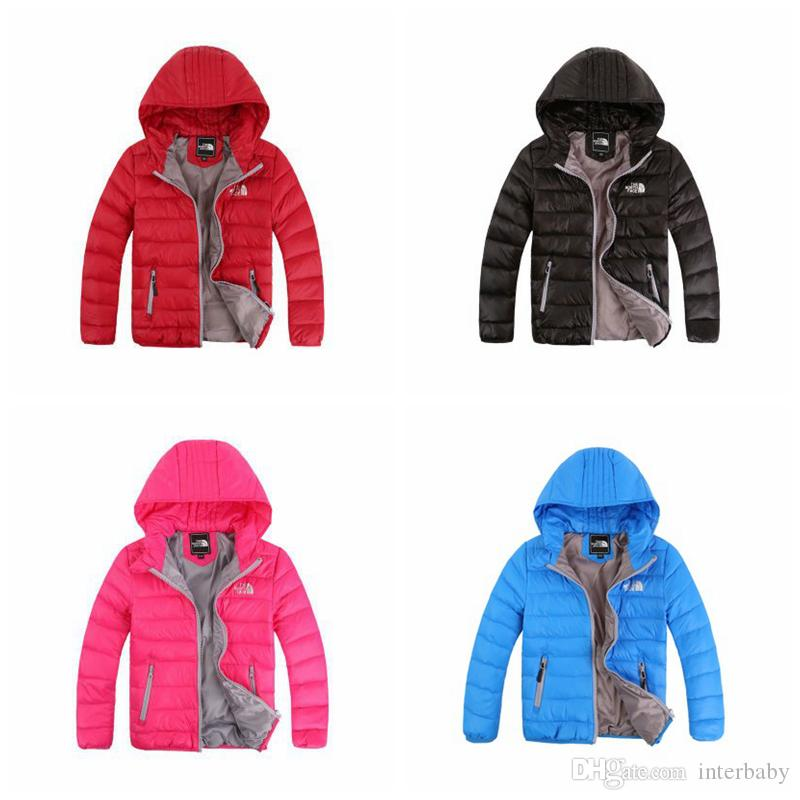 Kids Down Coat Boys Girls Winter Jackets Hooded Warm Camouflage Solid Overcoat Ski Wear Down Coat Baby Kids Fashion Clothes Outwear YFA222