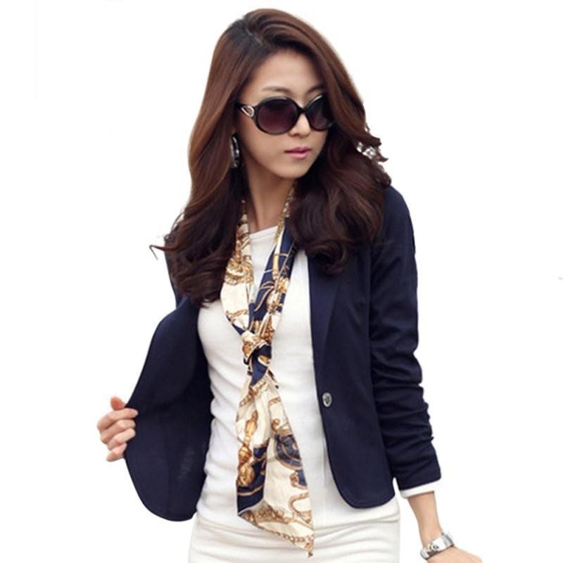 4689304e52 Compre Moda Feminina Blazer Casaco Elegante Jaqueta Casual Manga Comprida  One Button Suit Senhoras OL Blazers XXL L18101302 De Tai002