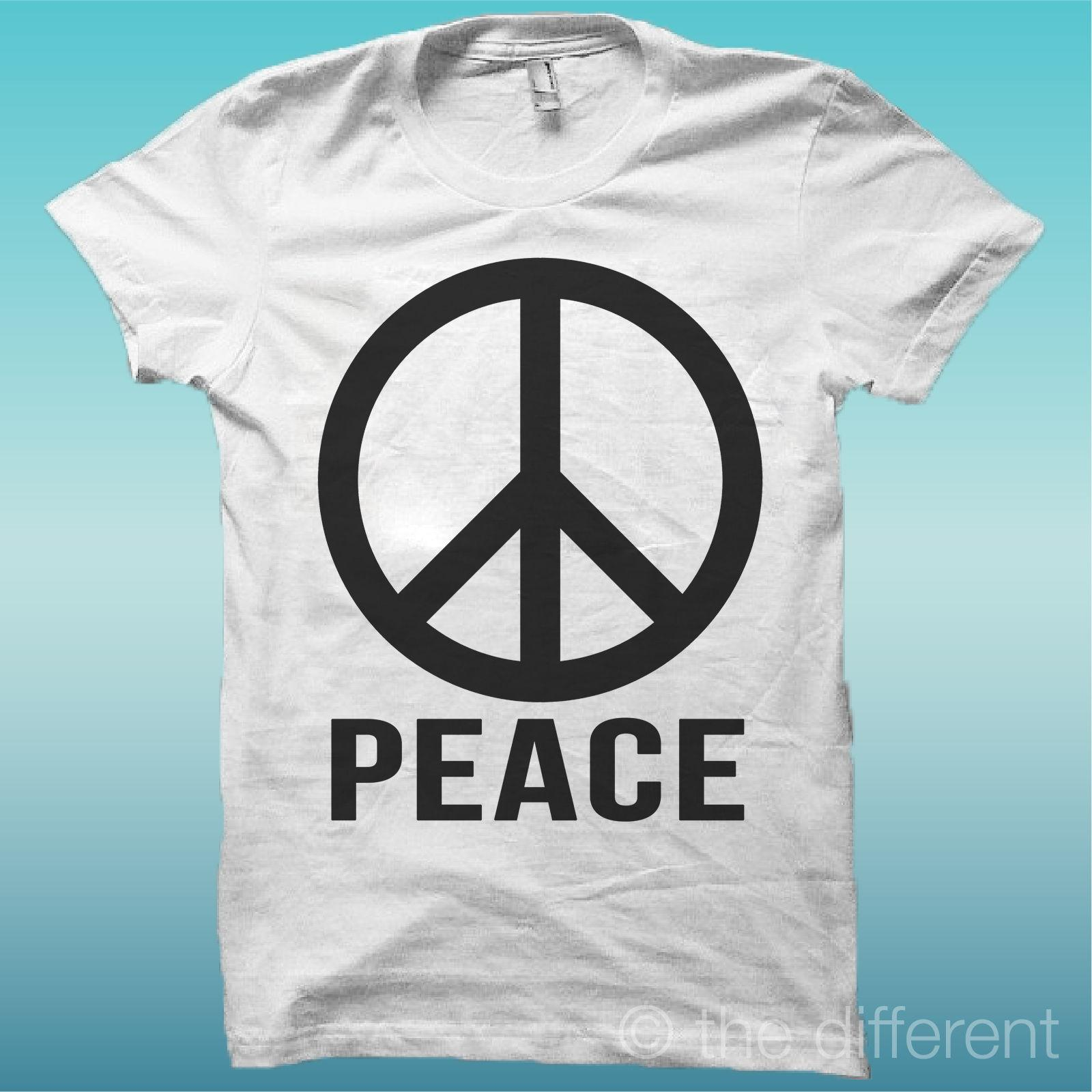 Mens T Shirt Symbol Peace Peace And Love Gift Idea Road To