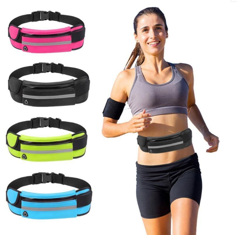 Unisex Gym Fitness Bag Sport Accessories Outdoor Running Waist Pocket Waterproof Mobile Phone Holder Jogging Belt Belly Package