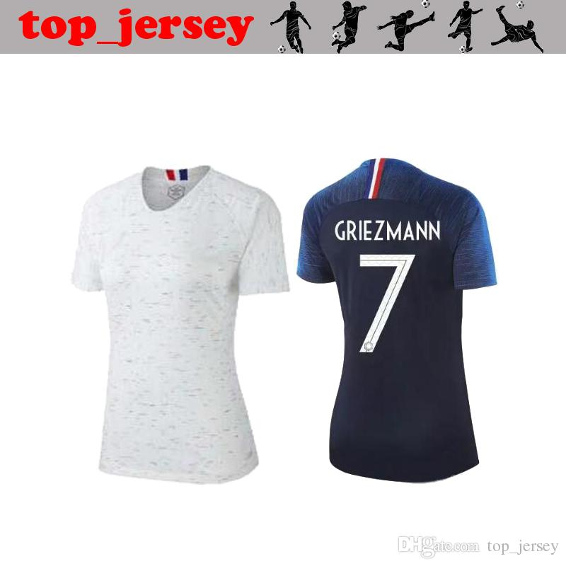 2018 NEW FRANC Women Soccer Jersey GRIEZMANN Thai Quality POGBA Home Away  FEKIR MARTIAL PAYET MATUIDI VARANE National Team Football Shirt UK 2019  From ... 1ab44d217