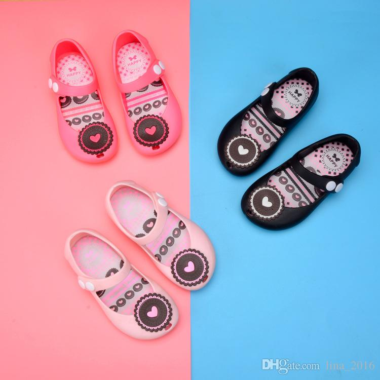 Girl Sandals Melissa Jelly Shoes Cookies Version Lovely Princess ... 2596254b4939