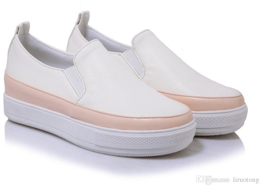 2018 spring new ladies round shallow shallow low shoes custom 40-44 large size 30-33 small yards increase