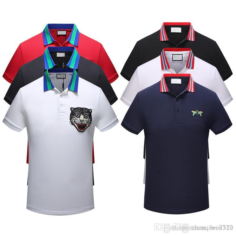 2f482e84548 The Bees 2018 Chun Xia Fashionable Short Sleeve Polo Unlined Upper ...