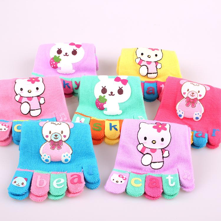 768523807 KINE PANDA Little Kids Girls Socks Five Fingers Socks Cartoon Hello Kitty  Children Cotton Rabbit Sport Lovely Toe Best Brand Socks Funny Running Socks  From ...