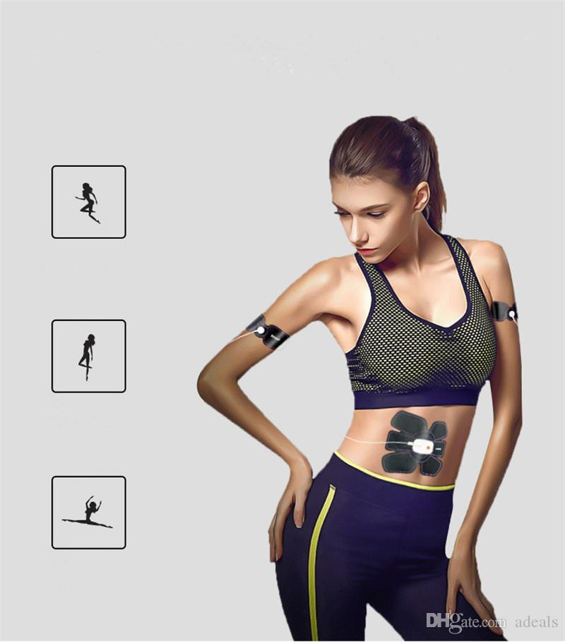 Muscle Stimulator EMS Stimulation Body Slimming Machine Wireless App Remote Control Abdominal Muscle Exerciser Trainer Massager