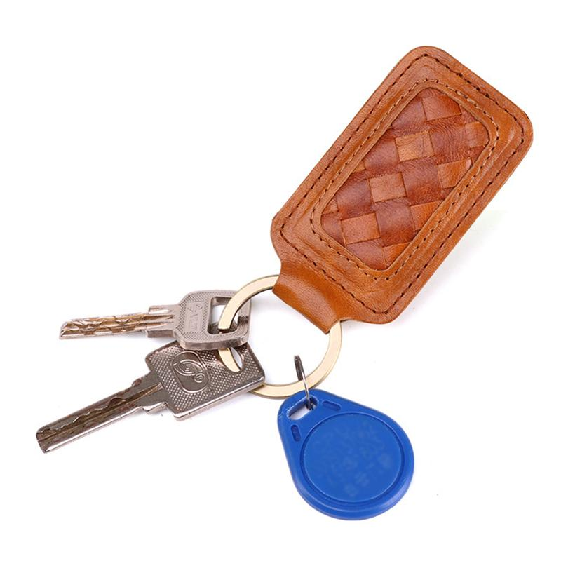 8917457e9eb4 High Quality Men Genuine Leather Car Key Case Holder Housekeeper Weave Real  Cowhide Key Accessories Holder Keychain Keyring Wallet For Women Women  Wallets ...