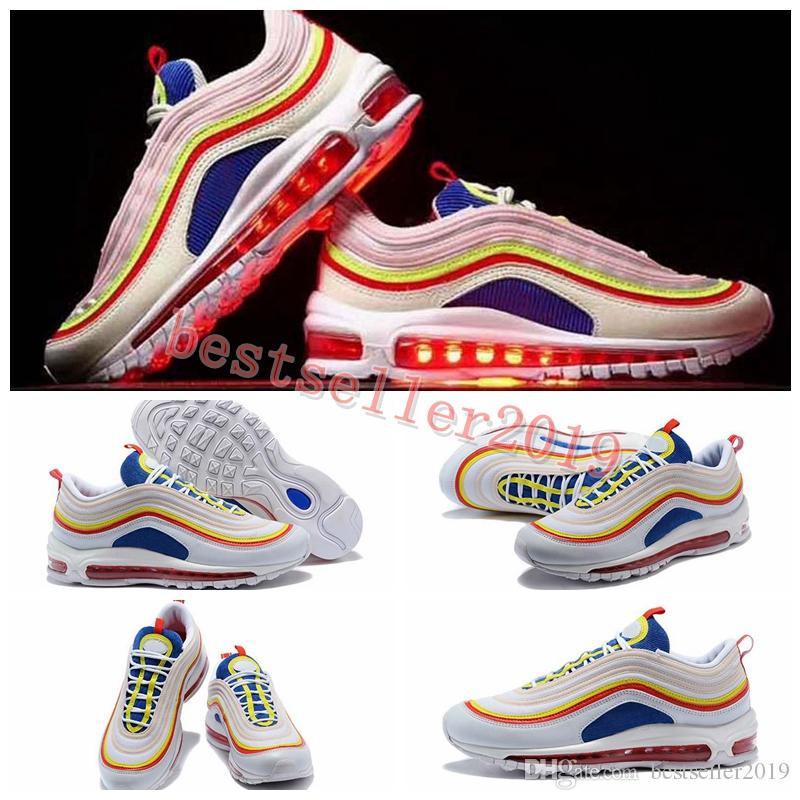 2018 New SE 97 Summer Viber Womens Mens Running Shoes Womans Men Colorful Trainers 97s Sneakers OG Rainbow Brand Designer Sports Shoes