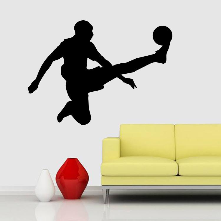 Wall Stickers Football Removable Wall Decor Decals Sport Style for Kids Boys Nursery Living Room Bedroom School Office Free Shipping