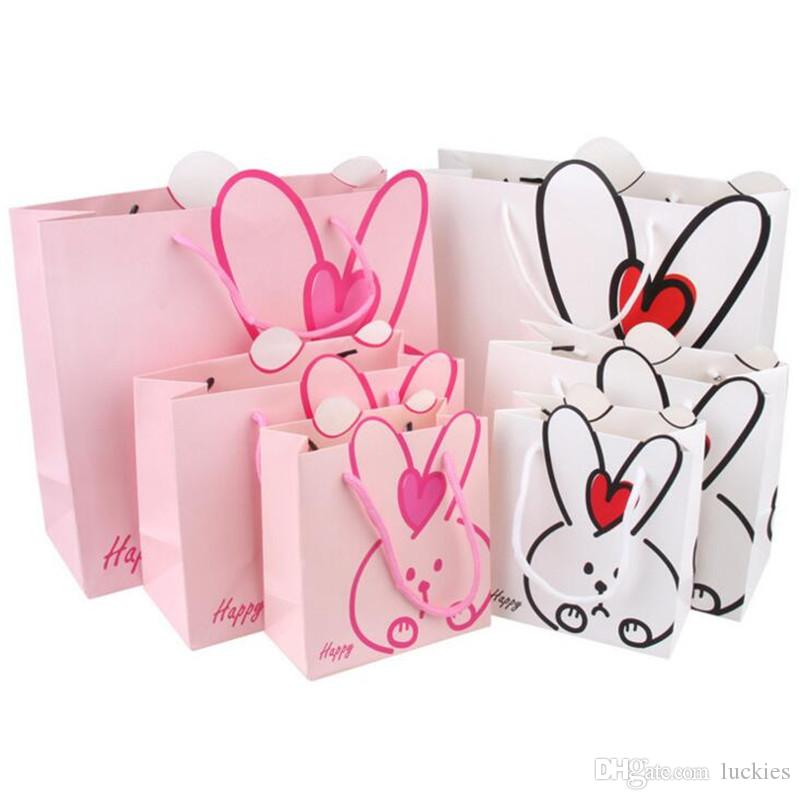 Rabbit Design Kids Candy Box Cartoon Small Large Gift Bags Children Birthday Party Decoration Goody Bag Favoe 0119 Wrap Rolls