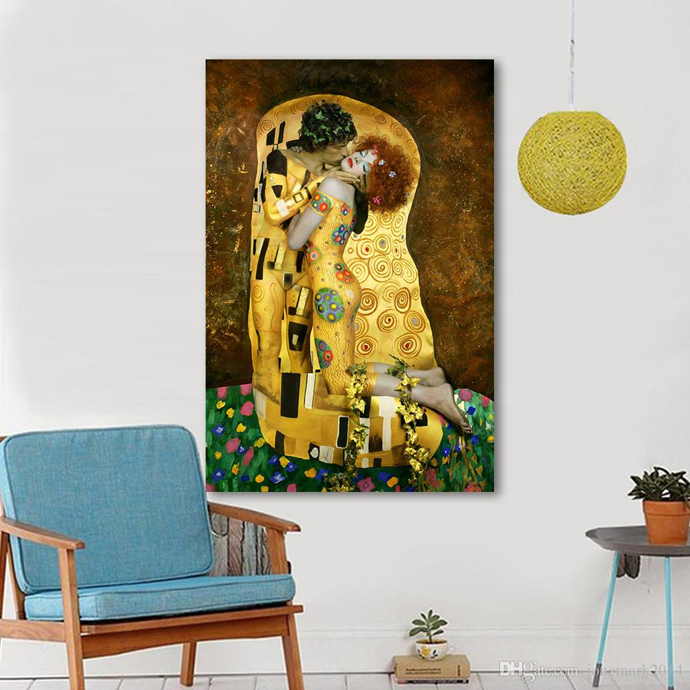 2018 Canvas Art Wall Pictures For Living Room Gustav Klimt Sytle The ...