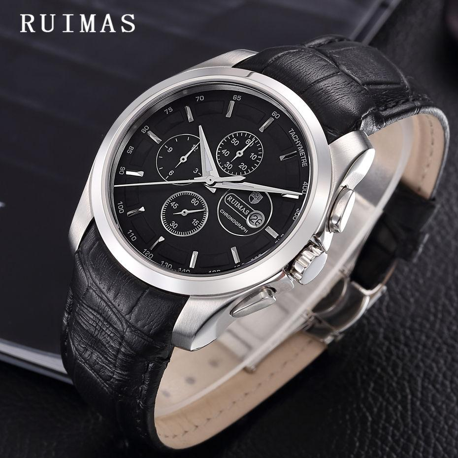 66584ebfe73 Compre Homens Relógio De Pulso De Quartzo Relógio De Luxo Relógios De Couro  Dos Homens Relogio Masculino Top Marca Ruimas Masculino Relógio Reloj Hombre  De ...