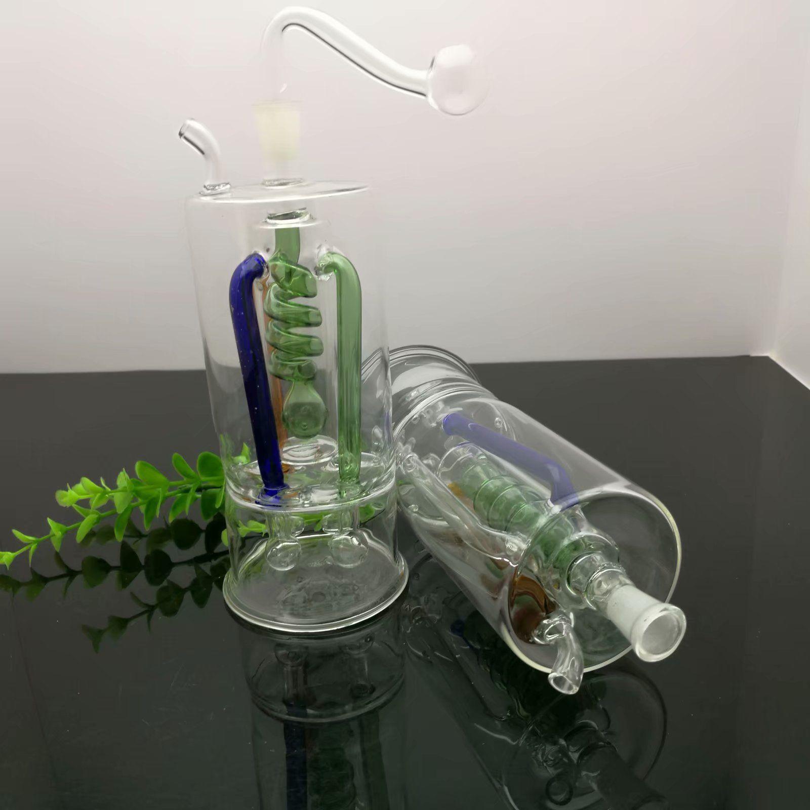 Multi cor garras placa silkplate garrafa de água de vidro bongs mudo vidro grosso Pipes Oil Burner água Vidro plataformas petrolíferas fumadores,