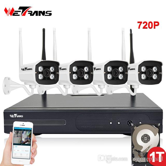 a332f5a6d93f0 2019 Wireless Security Camera System Outdoor Waterproof 20m IR Night Vision  720P HD 4CH Home Video Surveillance Wifi CCTV Camera Kit From Overstepmall