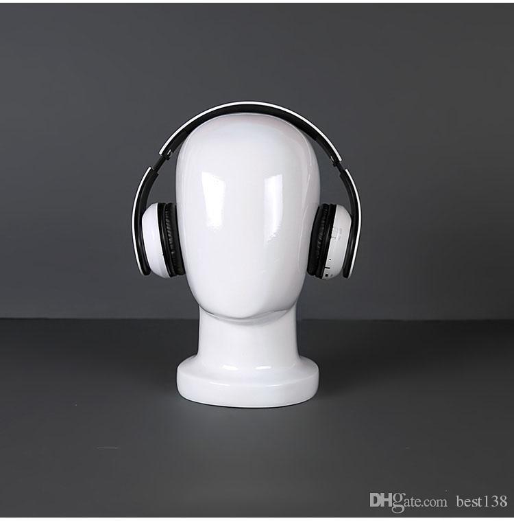 ¡¡Envío gratis!! Alta Calidad Hombre Fibra de vidrio Brillo Blanco Cabeza Maniquí Hombres Cabeza de Maniquí Venta Caliente