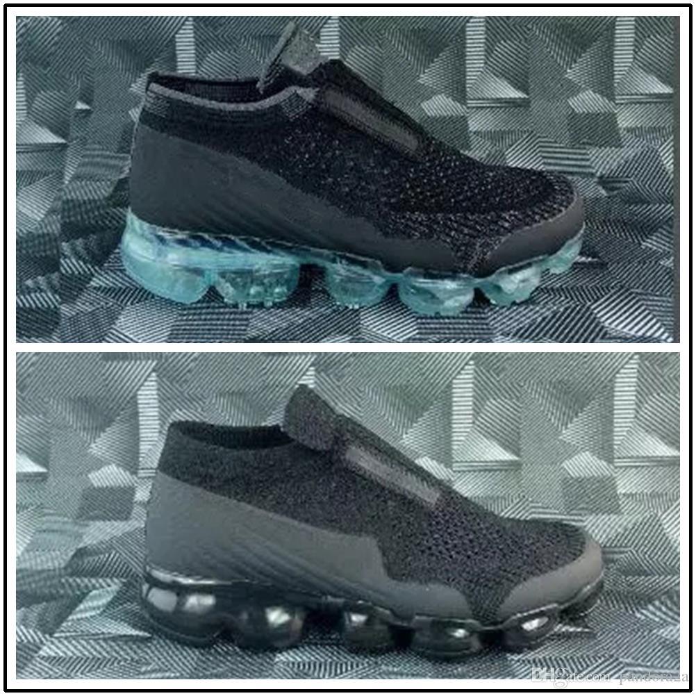 quality design f362e ea37e Compre Nike Air Max Airmax Vapormax Laceless Vapor 2018 Platinum Kids  Zapatillas Gris Blanco Rainbow Infant Children Calzado Deportivo Zapatillas  De Deporte ...