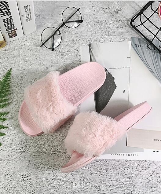 b0c47b4819e Leadcat Fenty Rihanna Shoes For Women Slippers Indoor Sandals Girls Fashion  Scuffs Pink Black Grey Fur Slides Star SWith Women S Shoes Womens Slippers  ...
