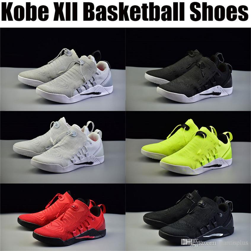 fbecb8273c5e Cheap Kobe 12 Bryant XII Red Shoes Basketball Slippers Trainers Men s Dark  Jerseys Low Outdoors Indoors Sports Exercise Original