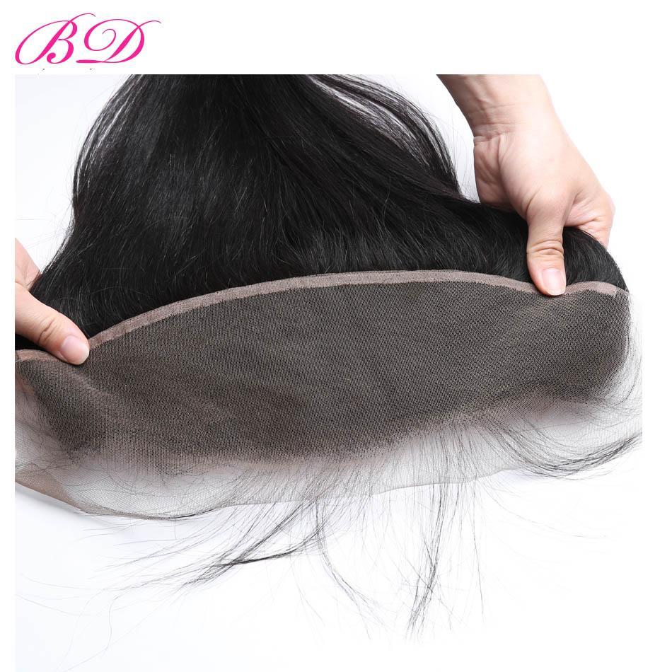 Ear To Ear Unprocessed Straight Virgin Hair 100% Indian Brazilian Malaysian Peruvian Human Hair 3 Bundles With Frontal Closure