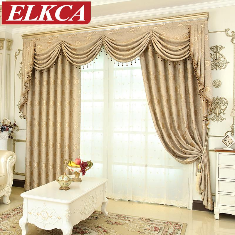 Curtains For Dining Room Windows: 2019 European Luxury Window Curtains For Living Room
