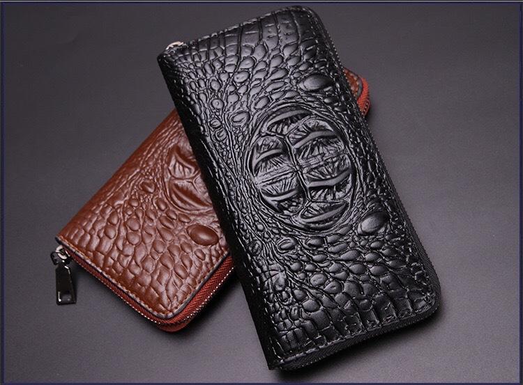 47cf30783 Crocodile Skin Wallet, Male Long Wallet, Fashionable Man Crocodile Zipper,  Handbag, Fashionable Man Handbag. Front Pocket Wallets Luxury Wallets From  ...