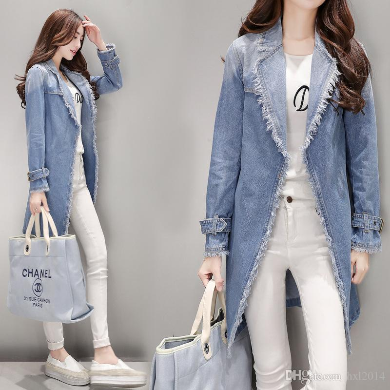 f40ca7518302cf Women's Clothing 2019 Spring Autumn Winter Street Style Loose Outerwear  coats Blue denim jackets for women clothes ladies tops parka blazers