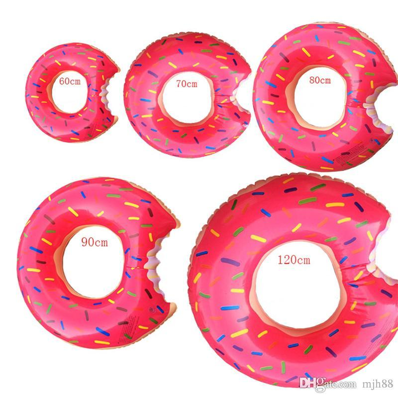 Summer Doughnut Design Style Swimming Rings 60-120cm Size For Adults and Children Inflatable Floats Swim Ring Beach or Pool Swim Toy