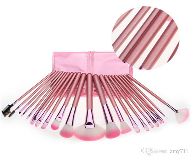 Hot New Makeup brushes makeup brush Professional Brush sets Goat hair Pink DHL shipping+Gift
