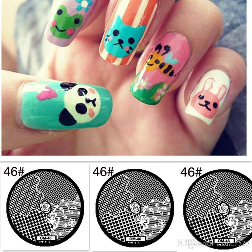 Rose Grass Little Flower Nail Art Stamp Template Image Nail Stamping ...