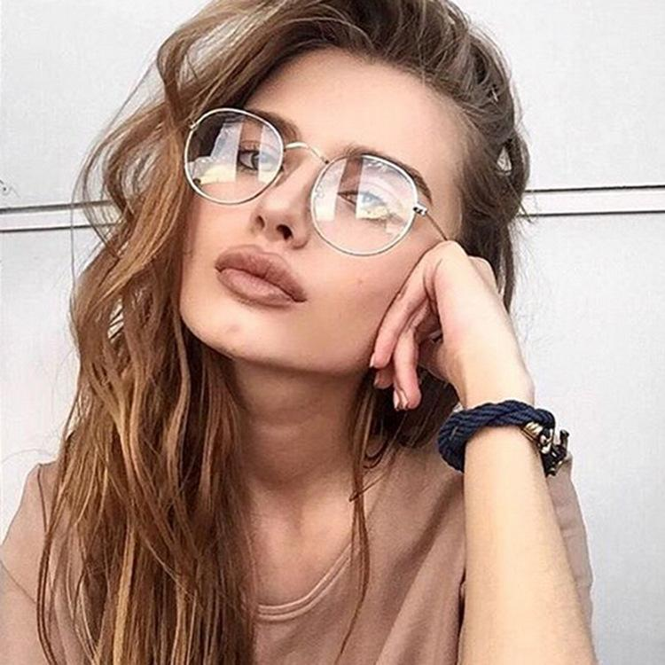 f78813f9760 2019 2018 New Designer Woman Glasses Optical Frames Metal Round Glasses  Frame Clear Lens Eyeware Black Sier Gold Eye Glass From Exyingtao