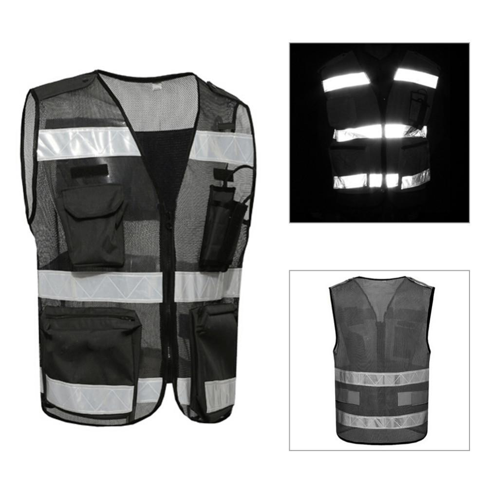 Motorcycle Riding Reflective Vest Walkie Talkie Intercom Pockets Breathable  Mesh Reflective Vest Black Motocross Protector UK 2019 From Bestliner d75d52f22b8