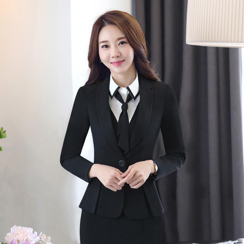 2019 Women Office Suits Dress Suit Office Uniform Designs Women Hip