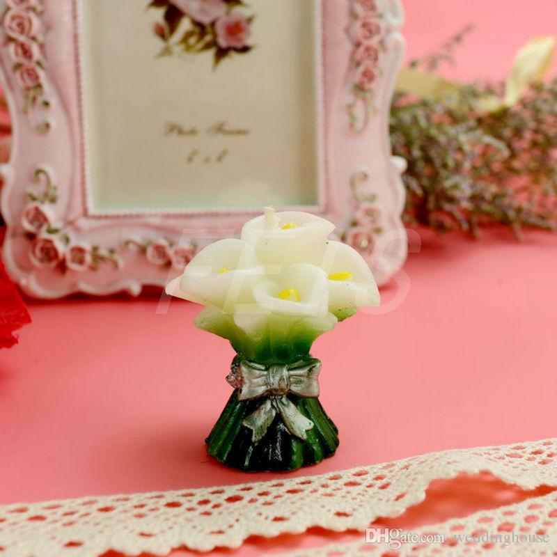 HOTSALE FEIS الجملة رومانسية المشترك callalily الفن شمعة استحمام الطفل صالح حزب الهدايا شمعة كعكة الزفاف التبعي